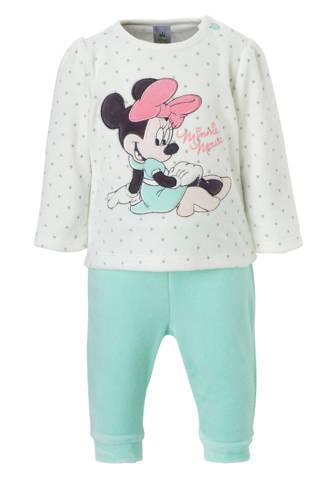 Baby Club Minnie Mouse velours pyjama ecru