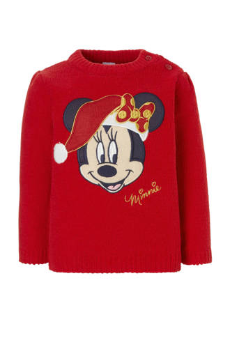 Baby Club Minnie Mouse kersttrui rood