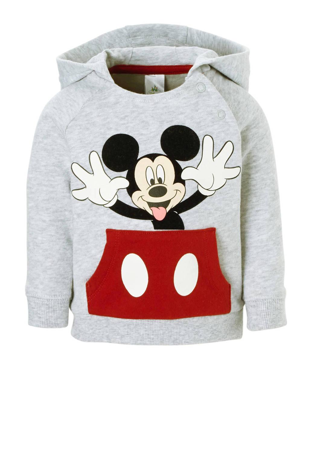 C&A Baby Club Mickey Mouse hoodie grijs, Grijs