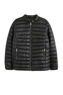 Violeta by Mango doorgestikte jas zwart (dames)