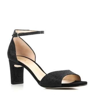 sandalettes met glitters zwart