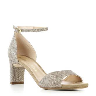 sandalettes met glitters goud