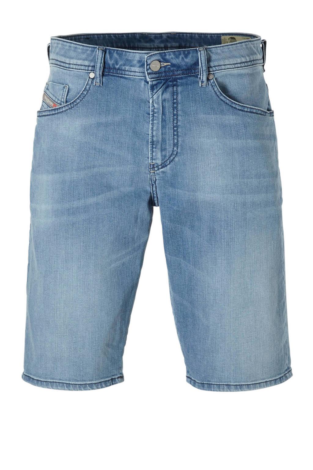 Diesel slim fit jeans short, Lichtblauw