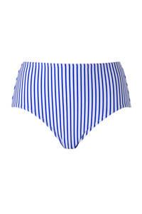 Freya bikinibroekje met streepdessin wit, Wit/blauw