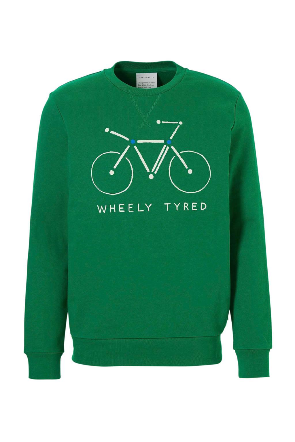 ARMEDANGELS sweater met printopdruk, Groen