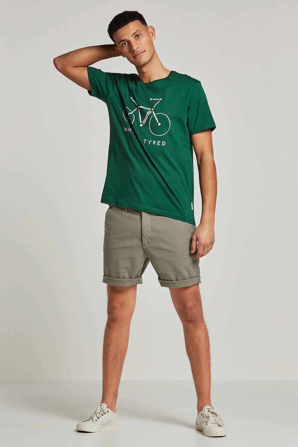 ARMEDANGELS T-shirt met print groen, Groen