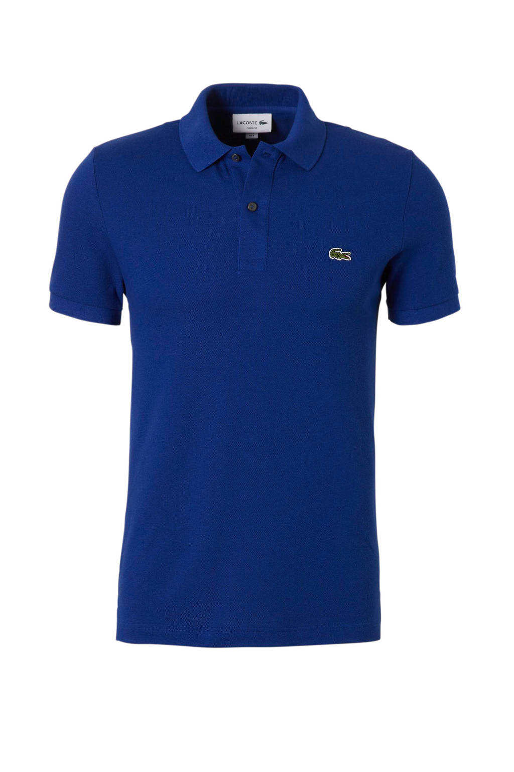 Lacoste slim fit polo, Blauw