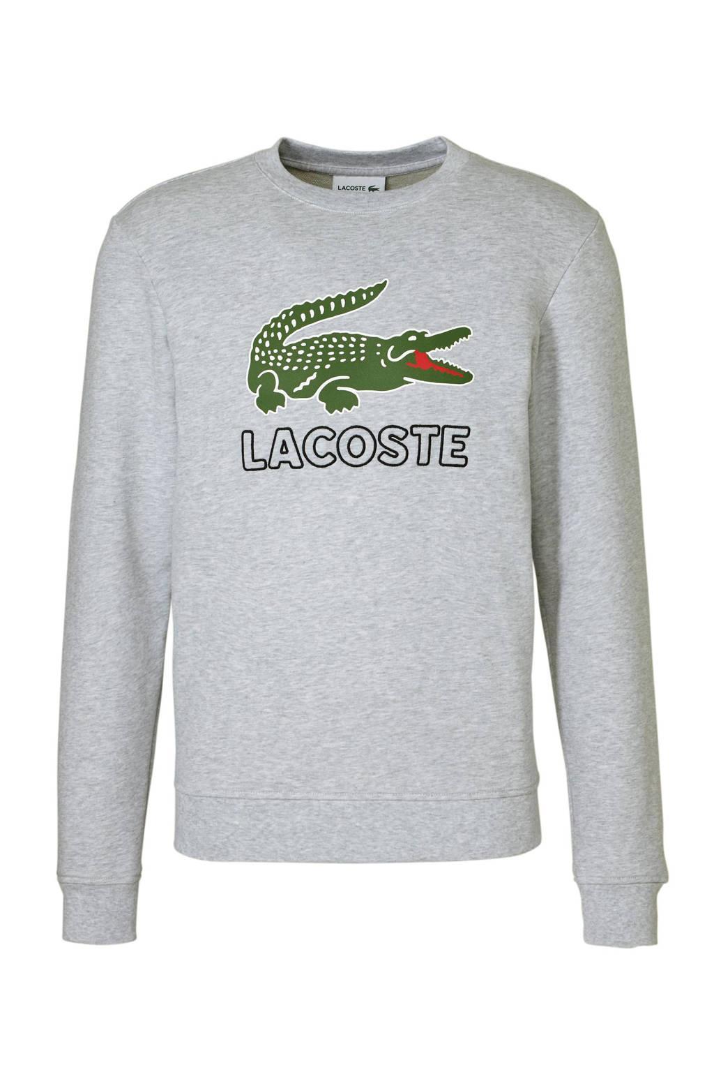 Lacoste sweater met logo, Grijs