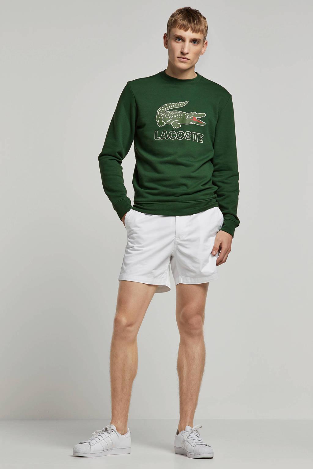 Lacoste sweater met logo groen, Groen
