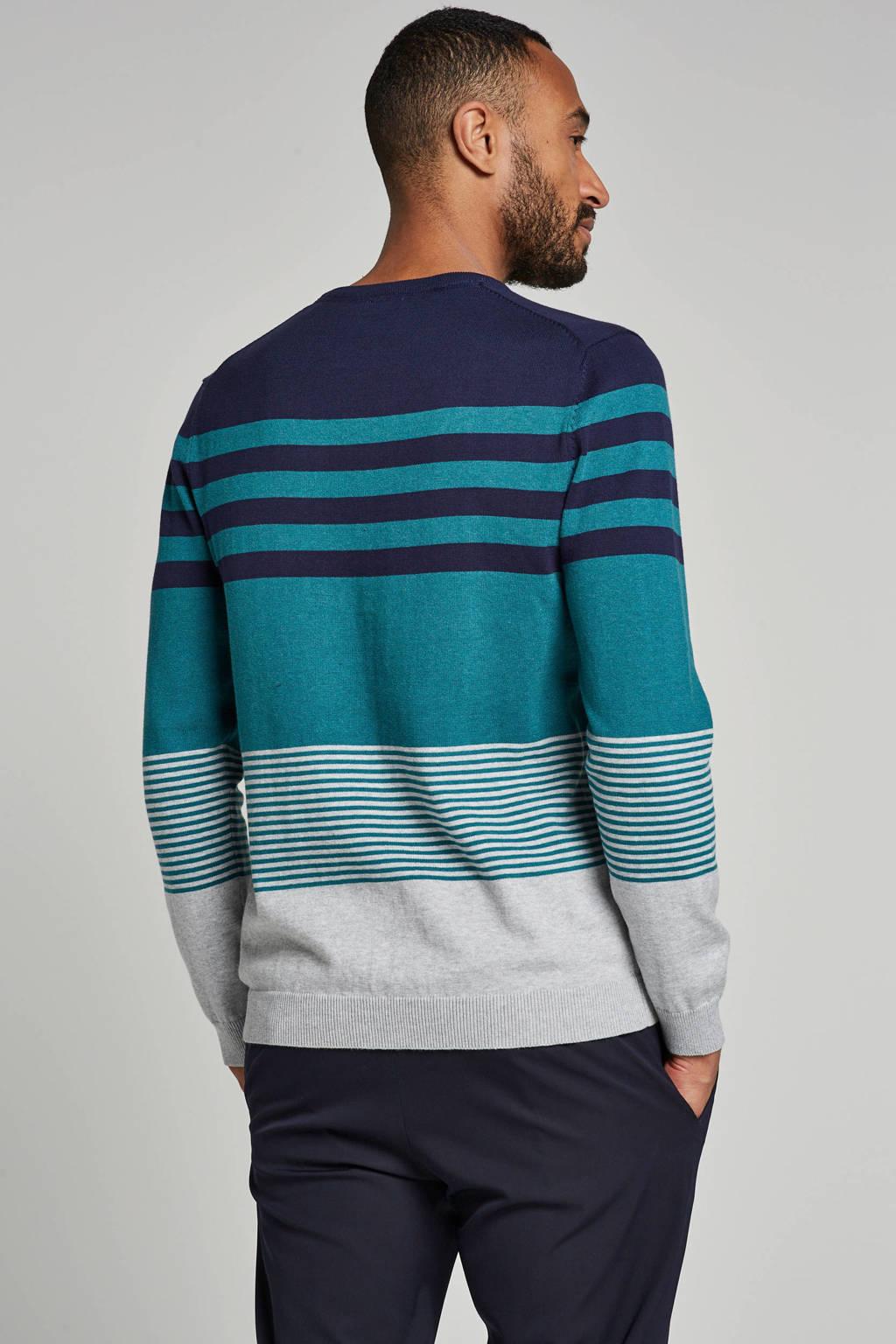 ESPRIT Men Casual trui, Groen/blauw