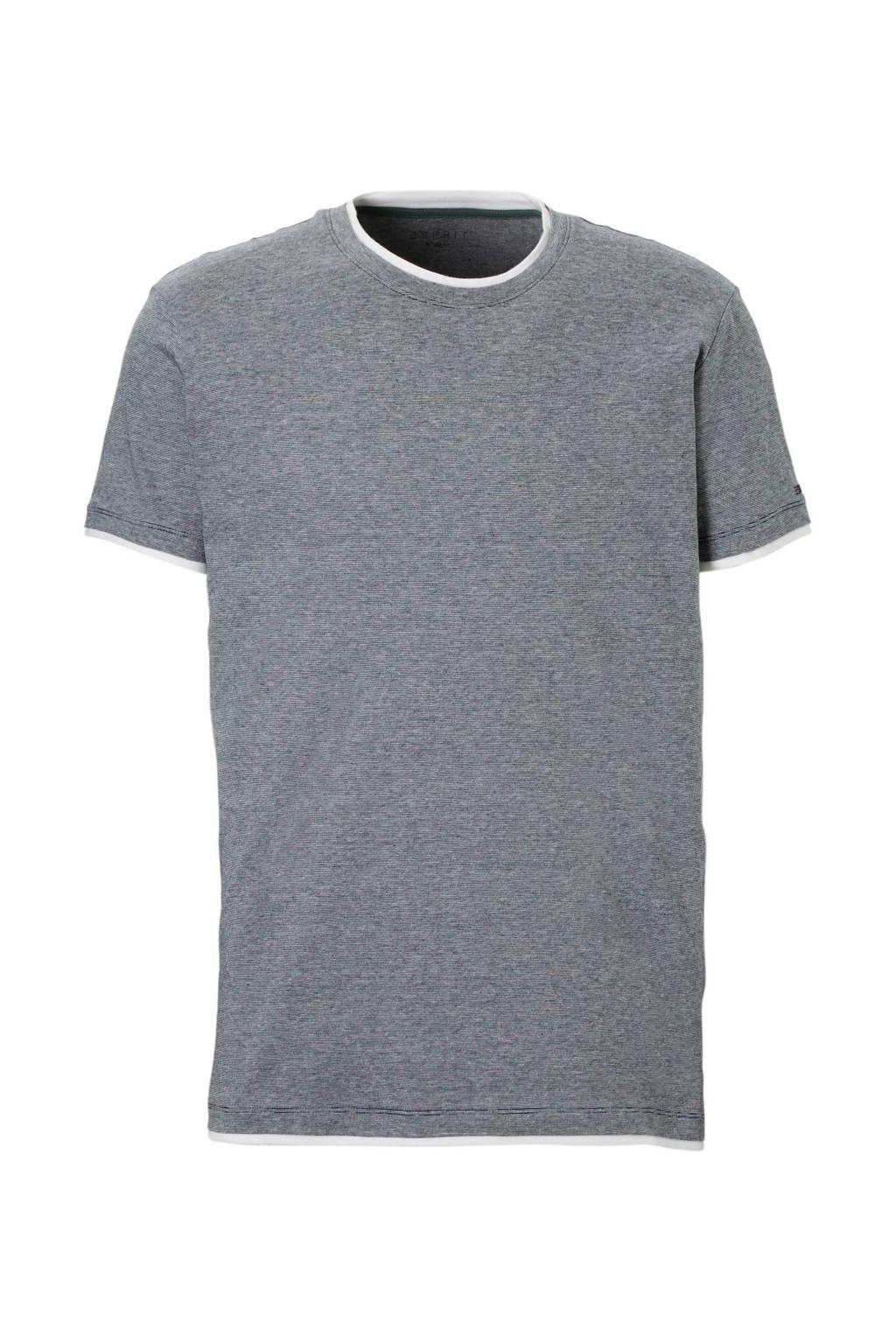 ESPRIT Men Casual T-shirt, Grijs melange