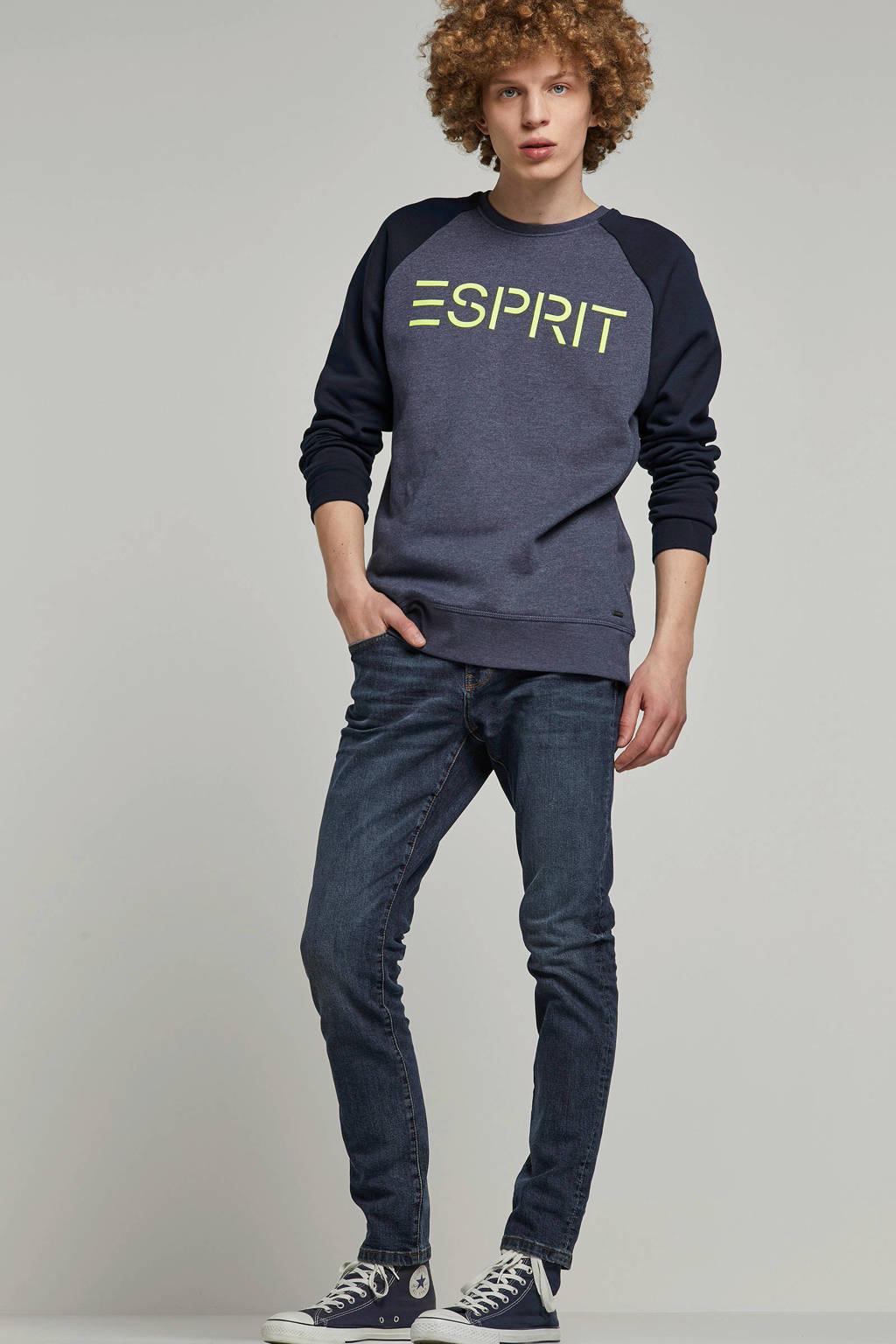 ESPRIT Men Casual sweater, Blauw