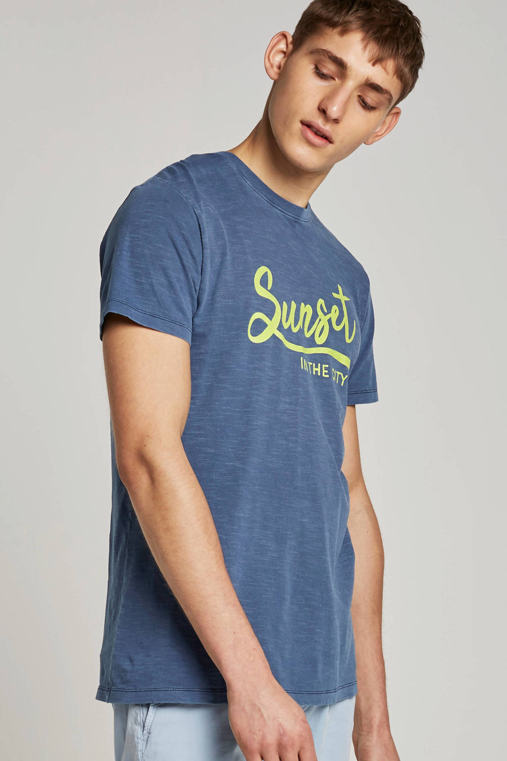 ESPRIT Men Casual T-shirt, Blauw