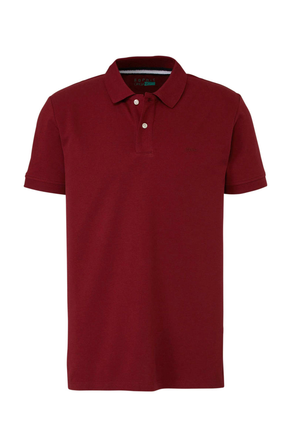 ESPRIT Men Casual polo, Donkerrood