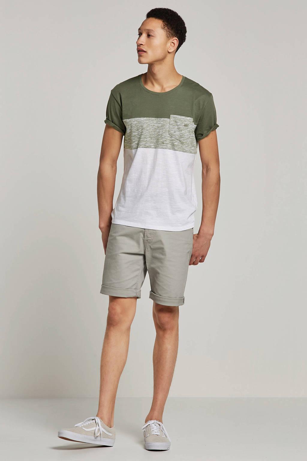 edc Men T-shirt, Groen/wit
