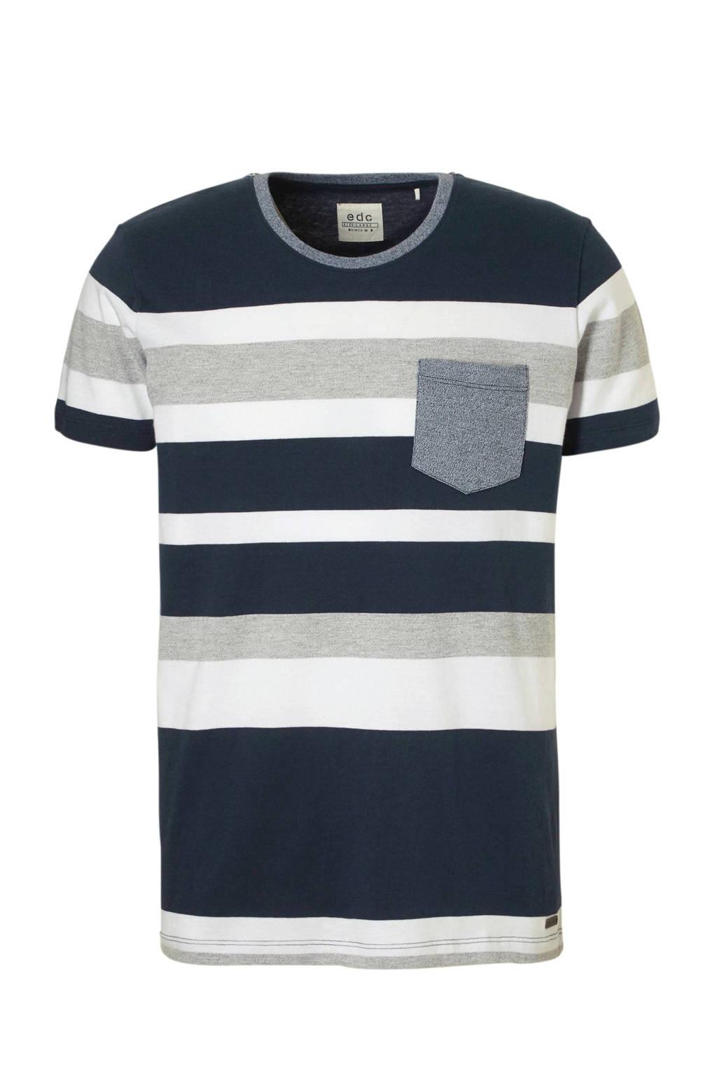 edc Men T-shirt, Donkerblauw