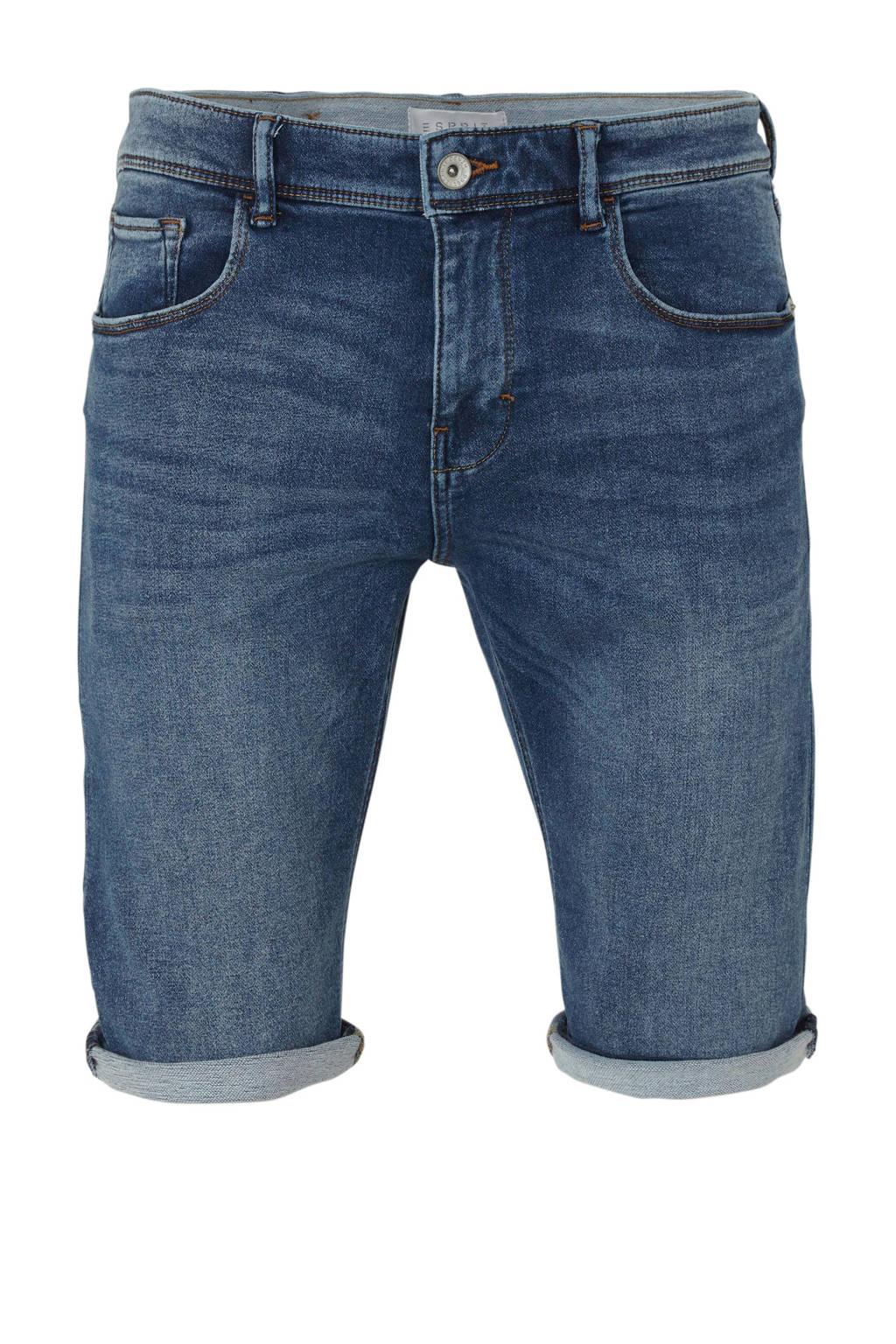 ESPRIT Men Casual slim fit jeans short, blue
