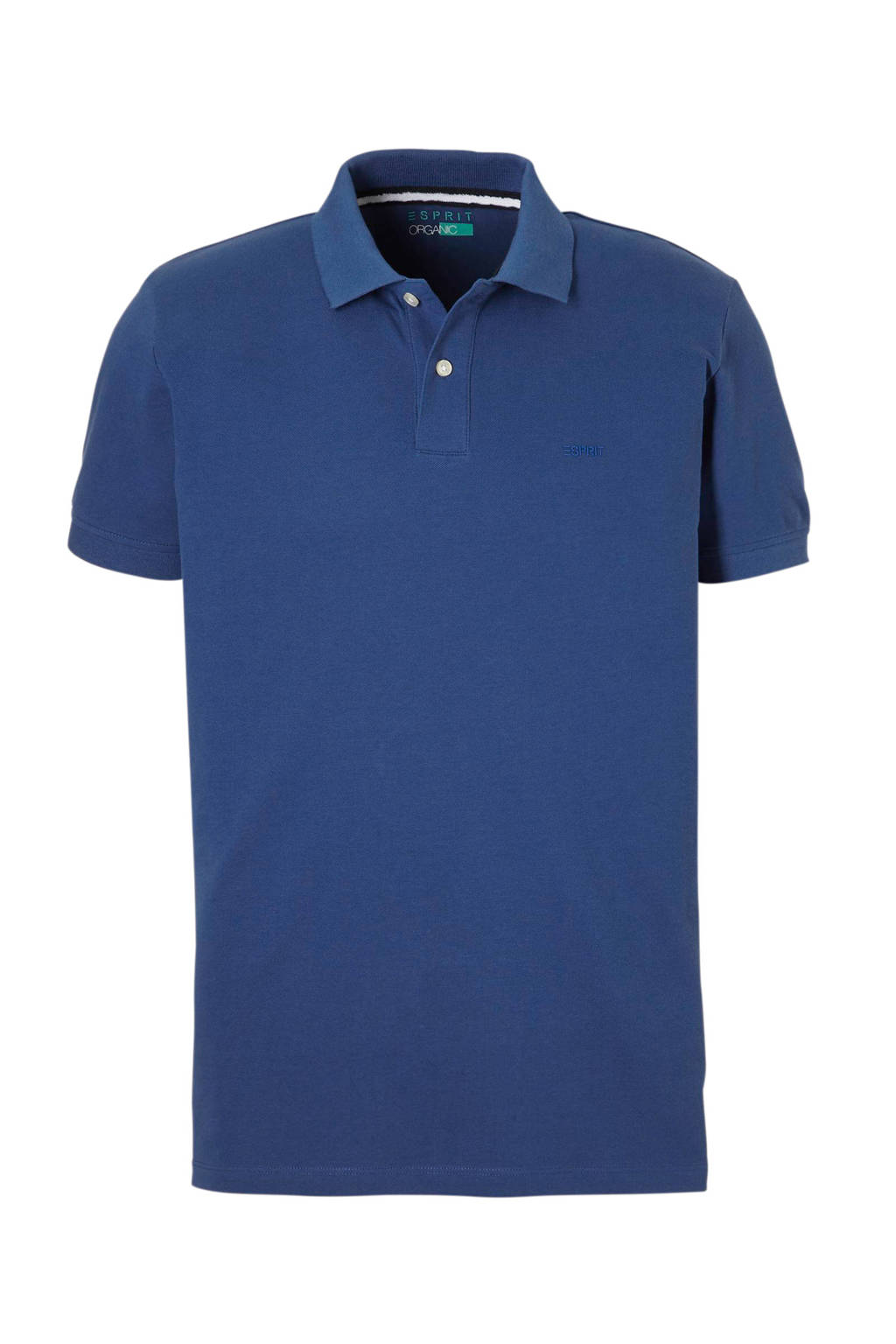 ESPRIT Men Casual polo, Blauw