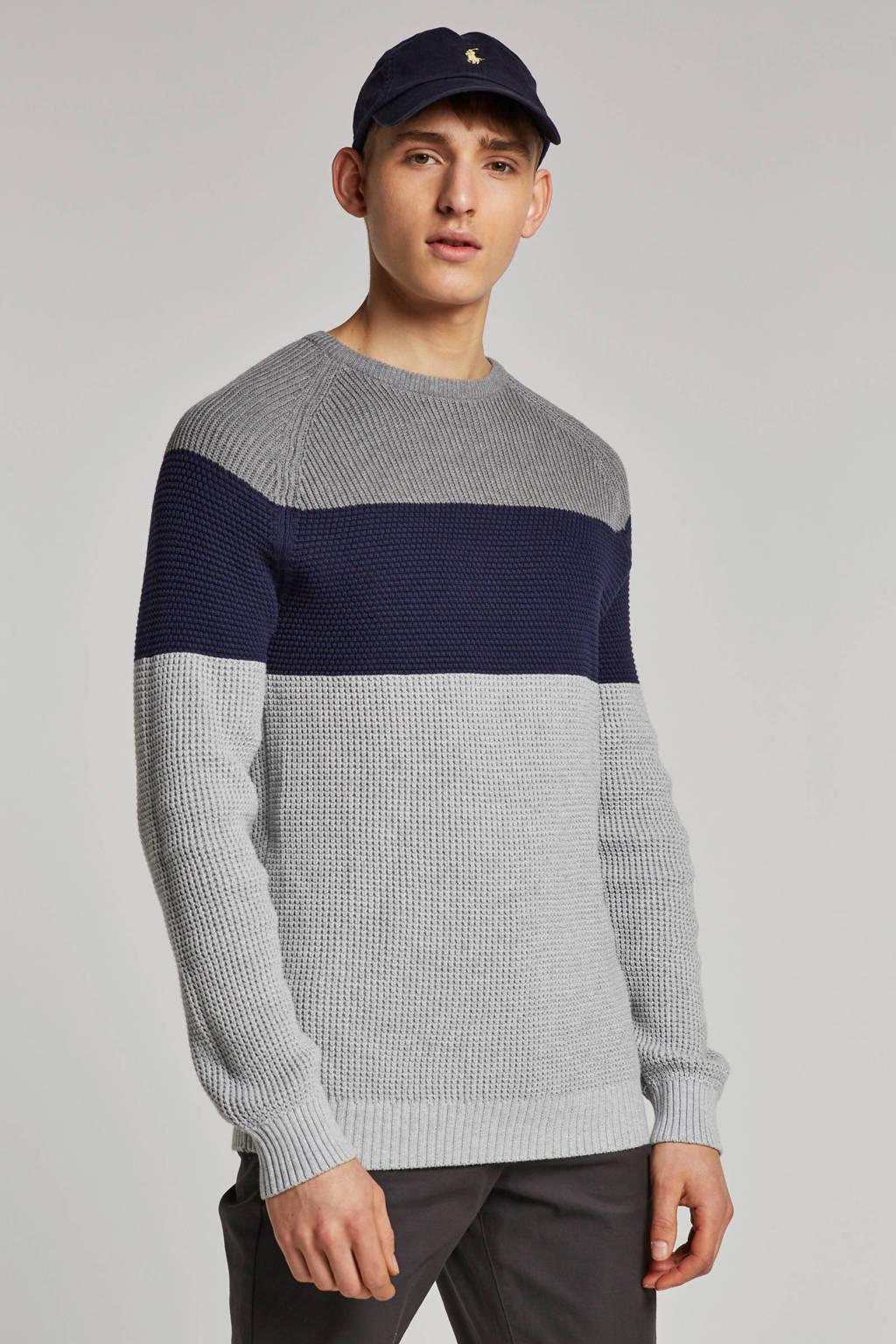 ESPRIT Men Casual trui, Grijs/blauw