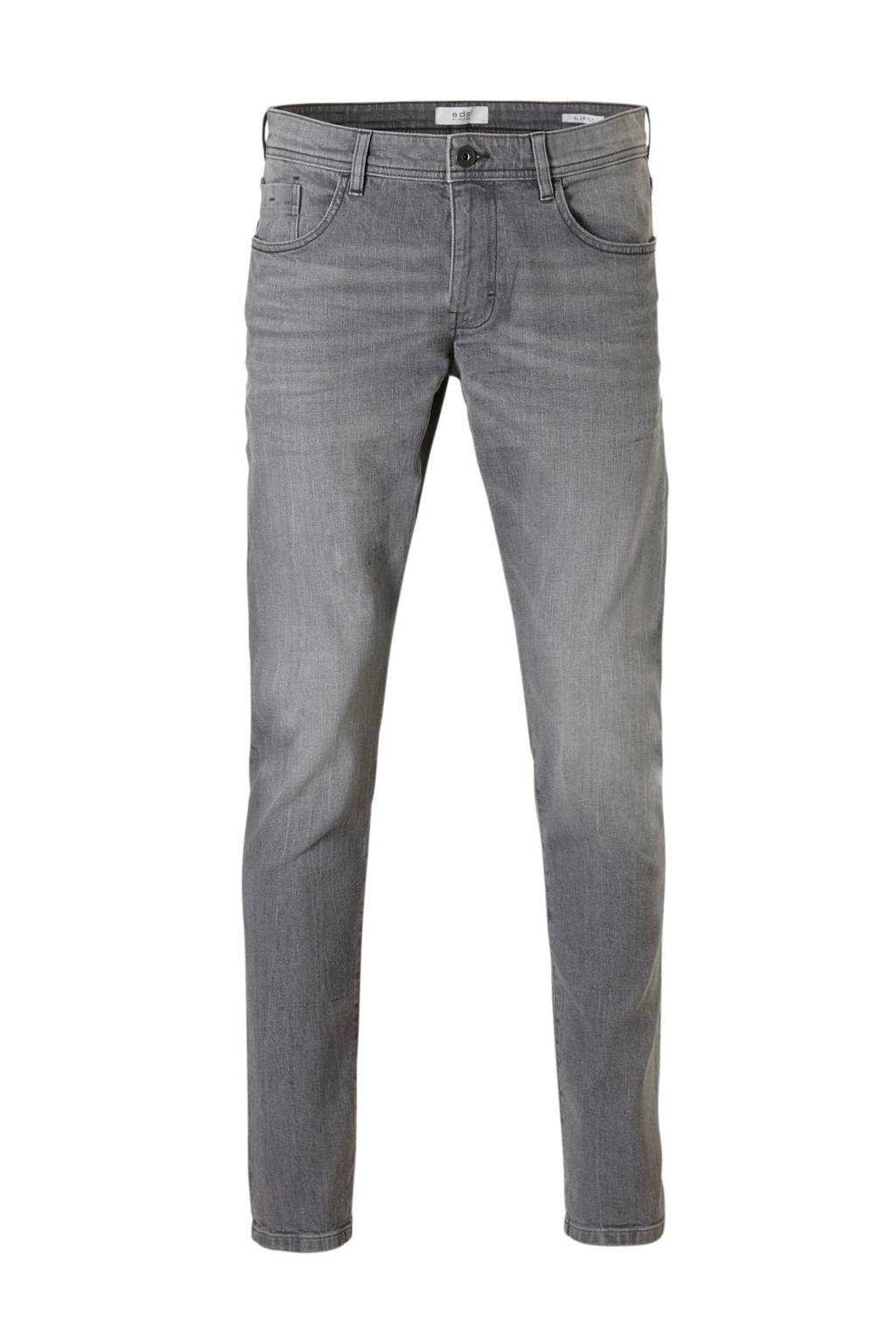 edc Men  straight slim fit jeans, Grijs