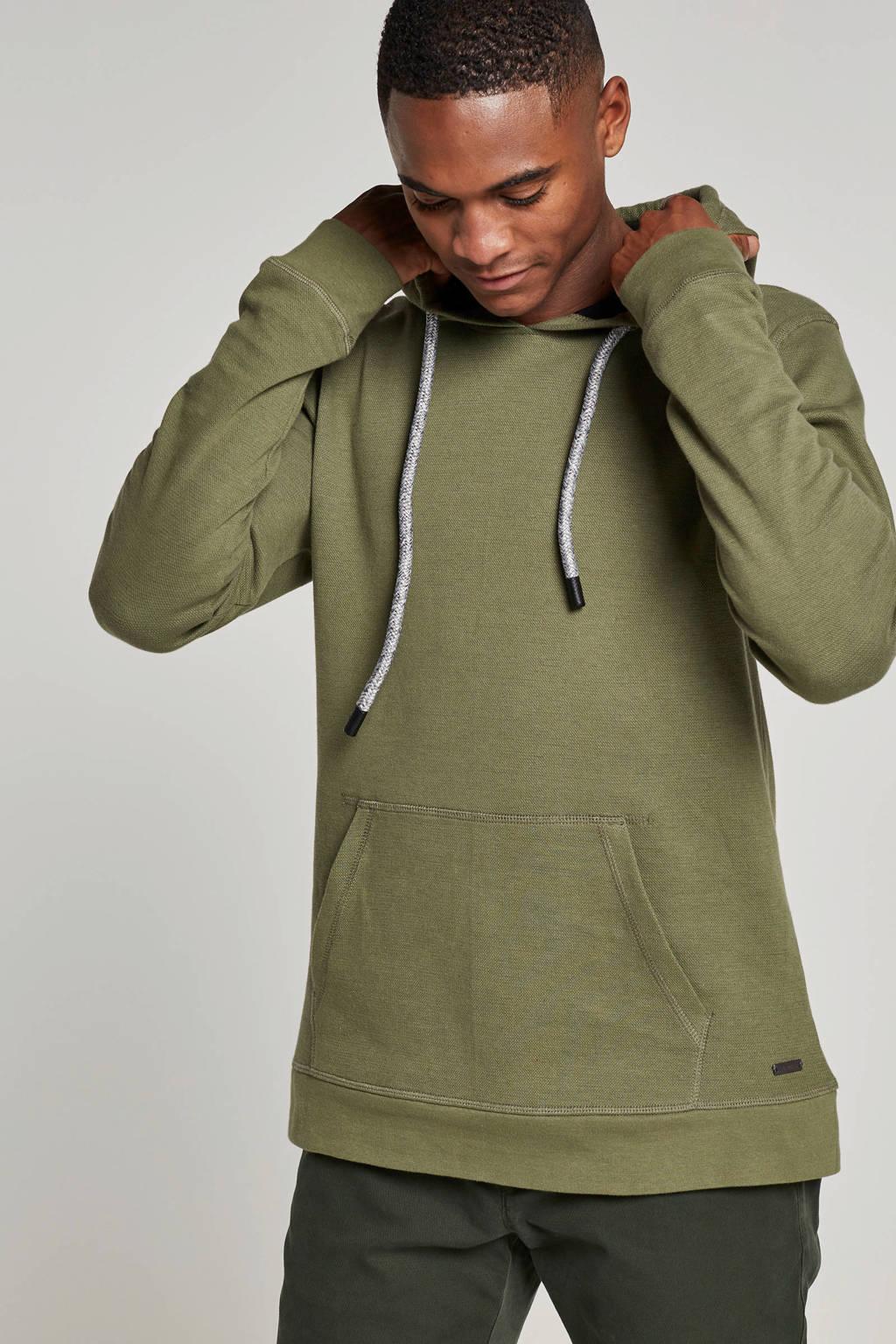 edc Men hoodie, Groen