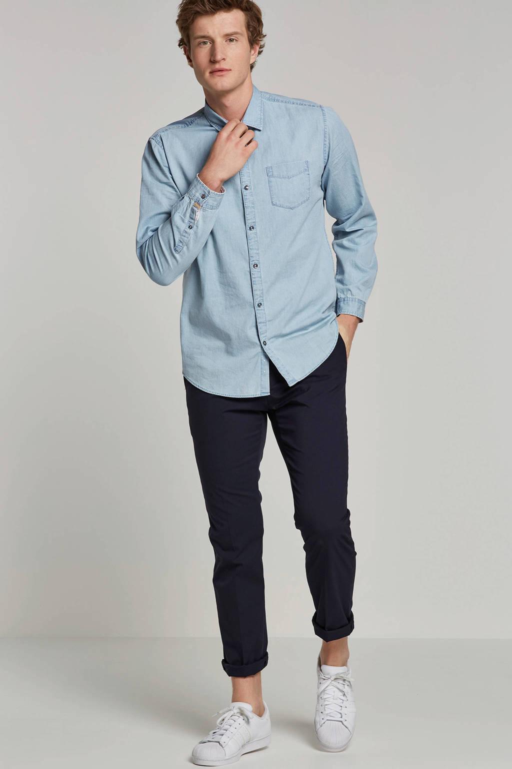 edc Men slim fit overhemd, Light denim