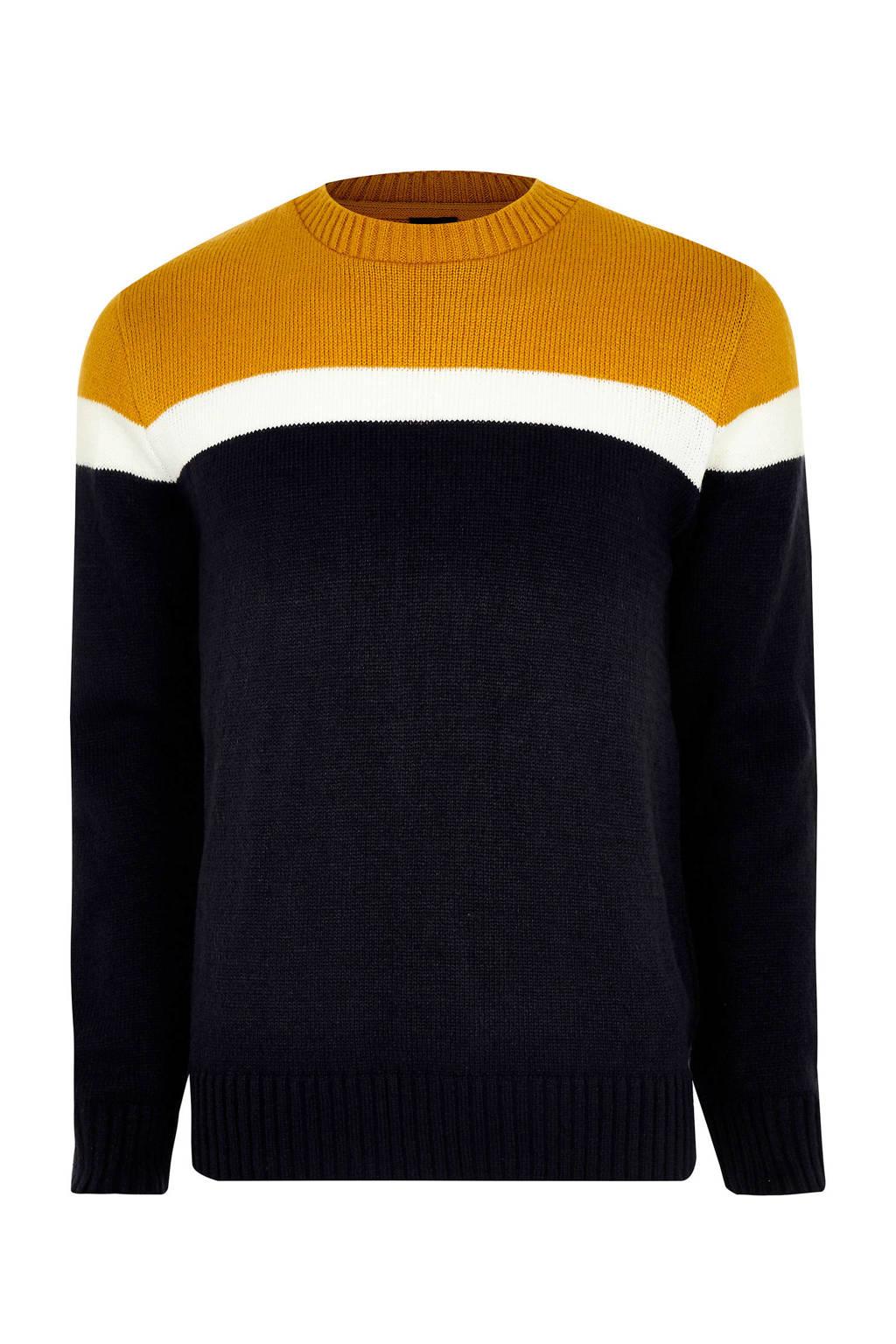 River Island trui, Zwart/geel