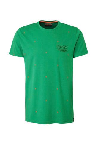 T-shrt met palmboomprint groen