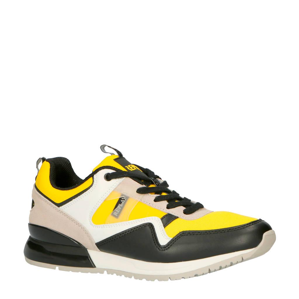 REPLAY Aways sneakers geel, Geel/zwart