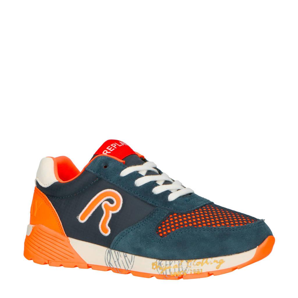 REPLAY  sneakers donkerblauw/oranje, Blauw/oranje