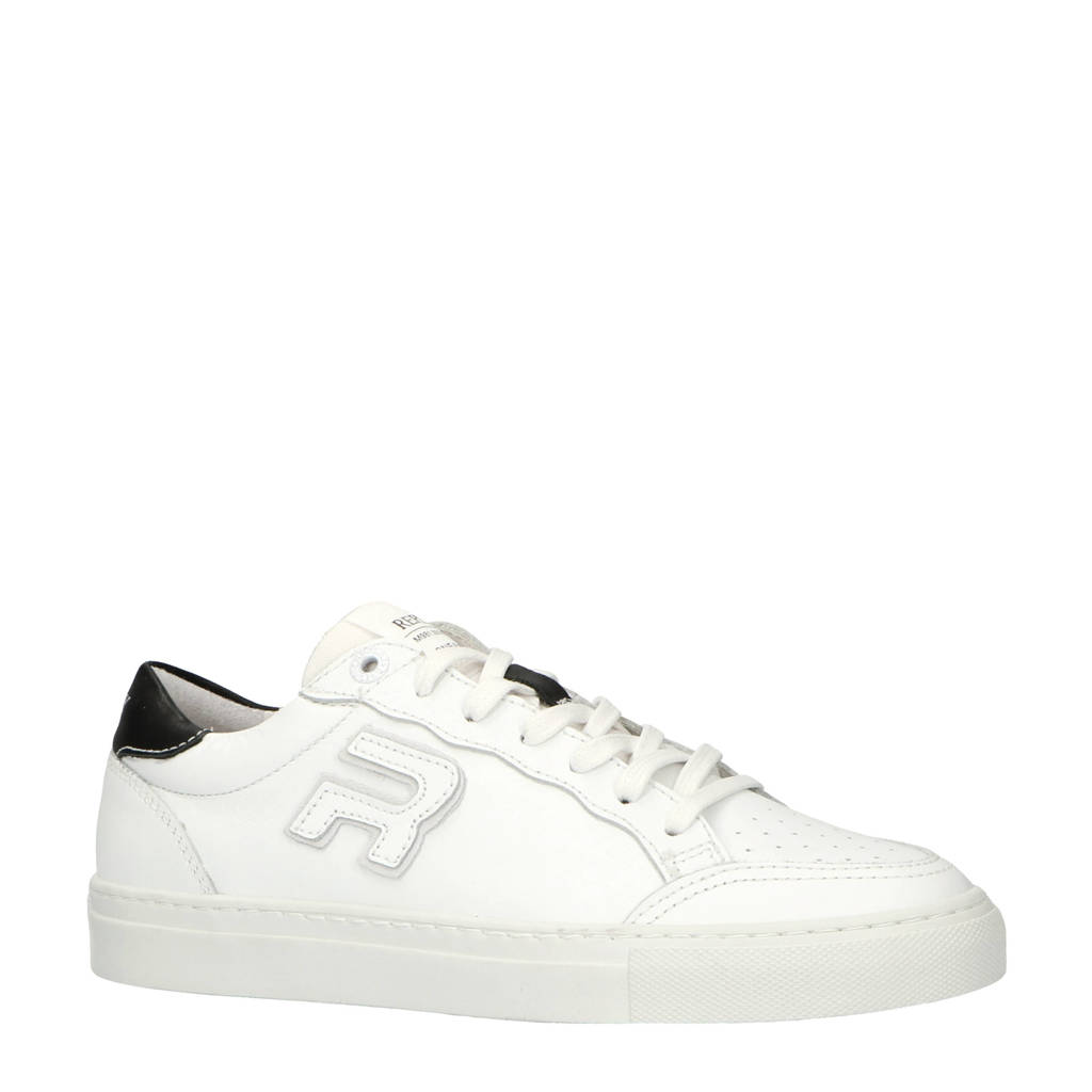REPLAY   leren sneakers wit, Wit/zwart