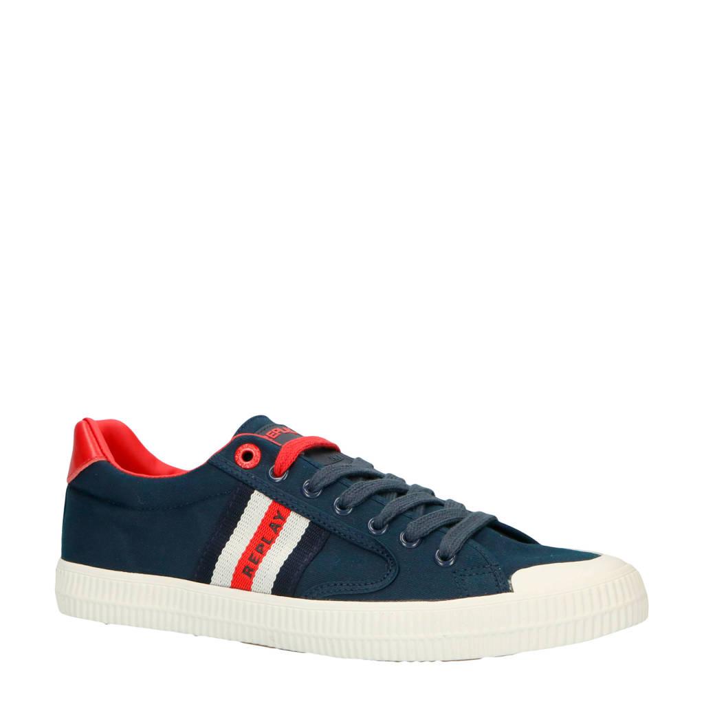 REPLAY Bryant sneakers donkerblauw, Donkerblauw/rood