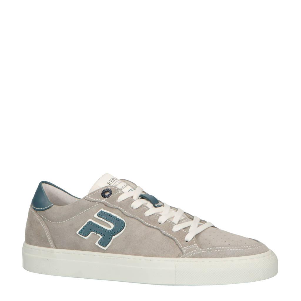 REPLAY  suède sneakers grijs, Grijs