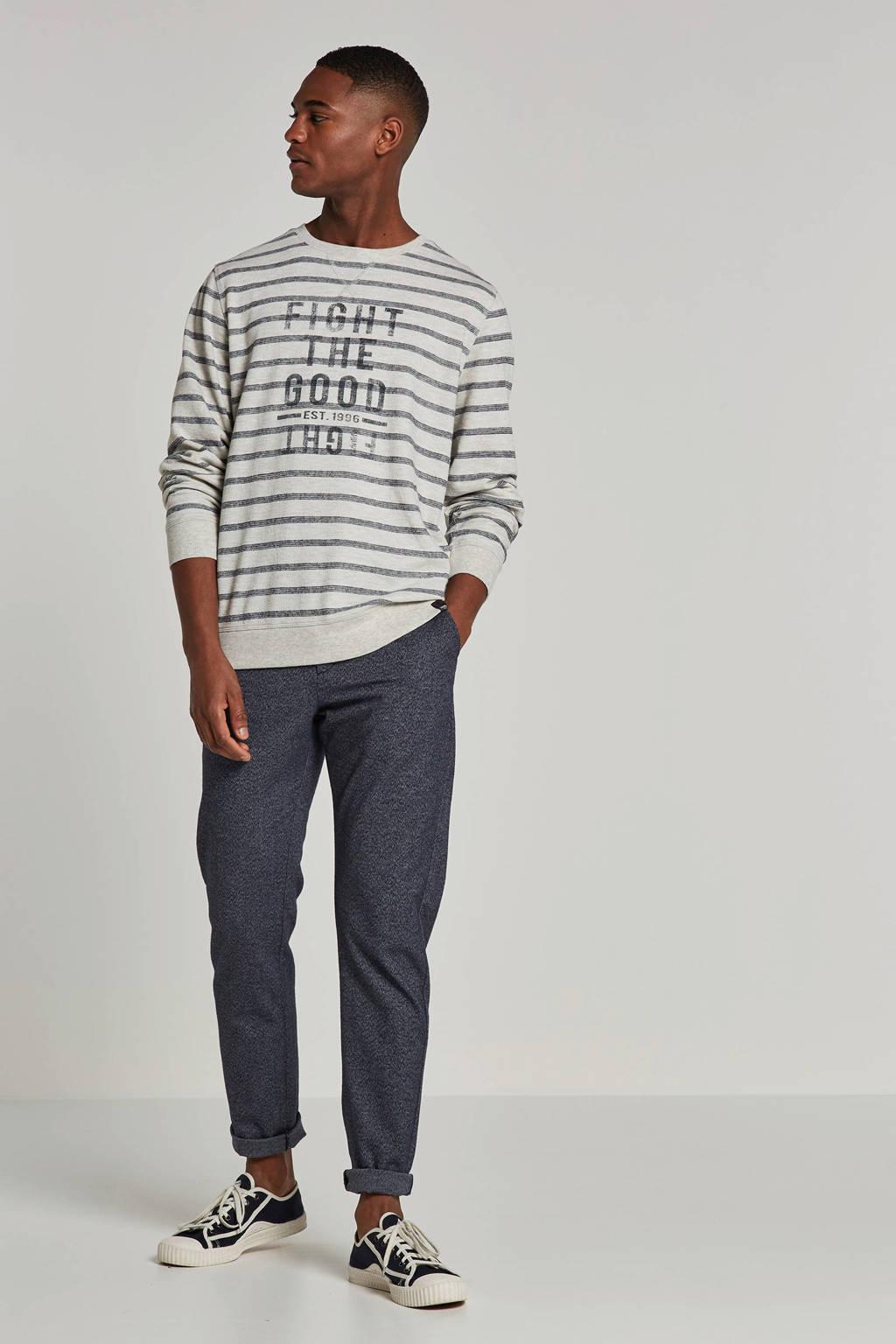 Twinlife sweater, Grijs/blauw