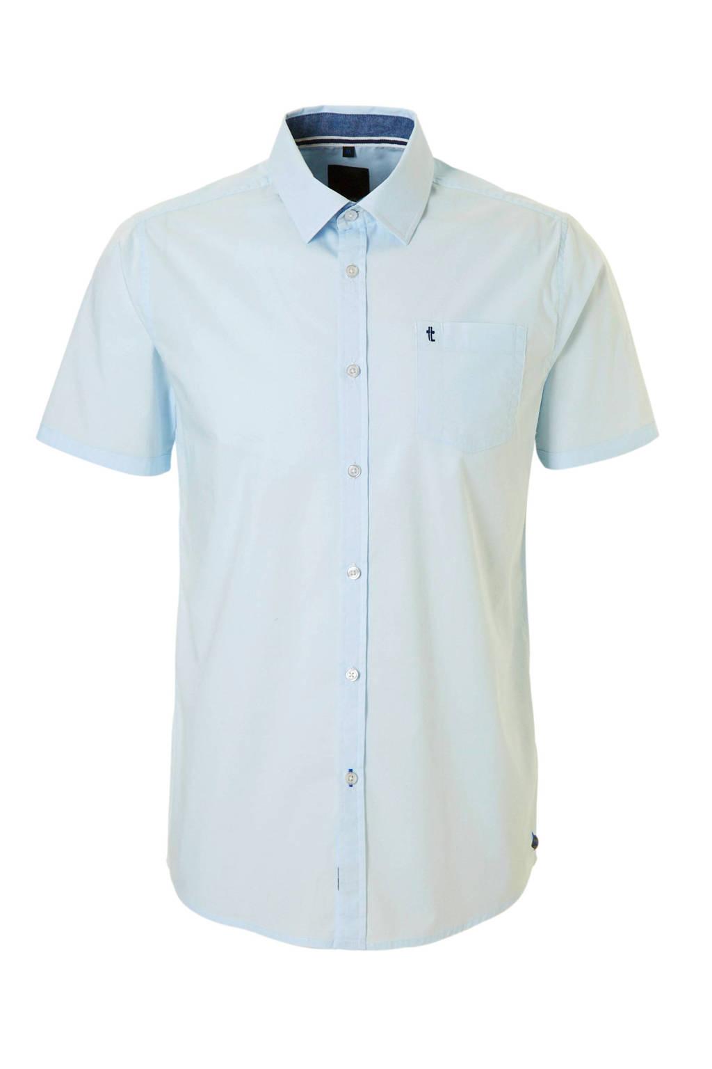 Twinlife overhemd korte mouw, Lichtblauw