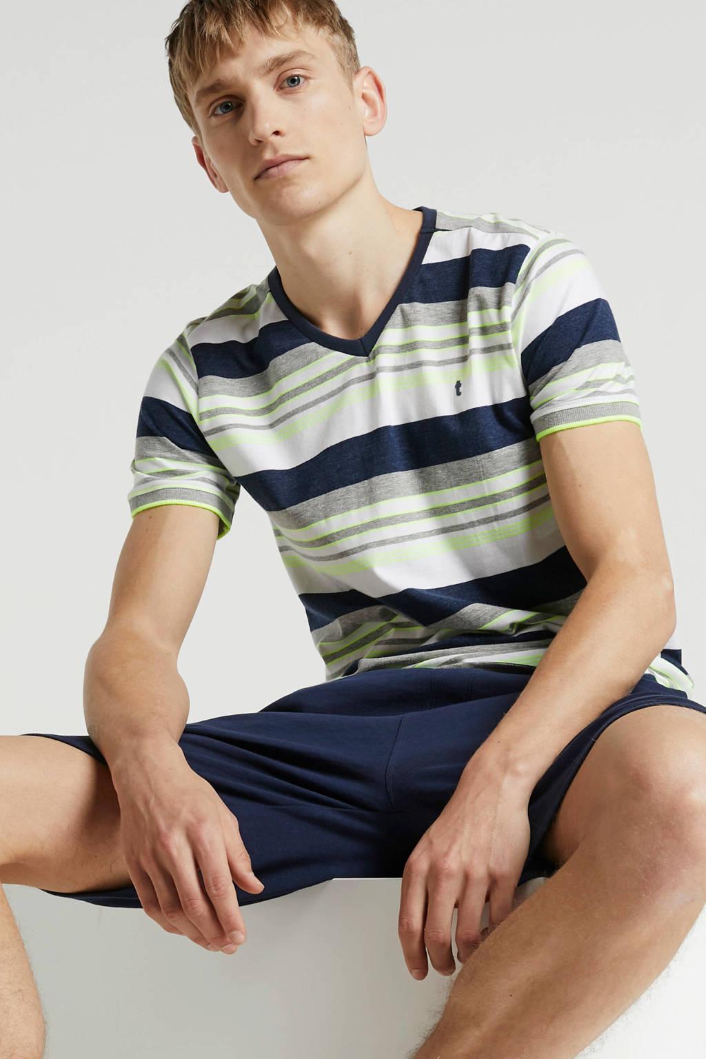 Twinlife T-shirt, Blauw/grijs/wit