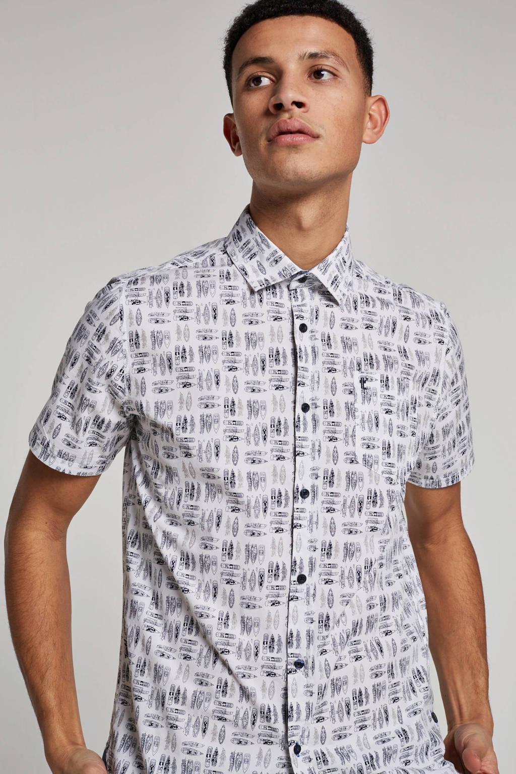 Twinlife overhemd korte mouw, Wit