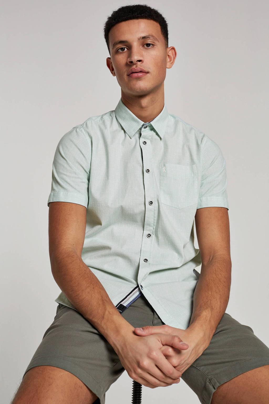Twinlife overhemd korte mouw, Groen