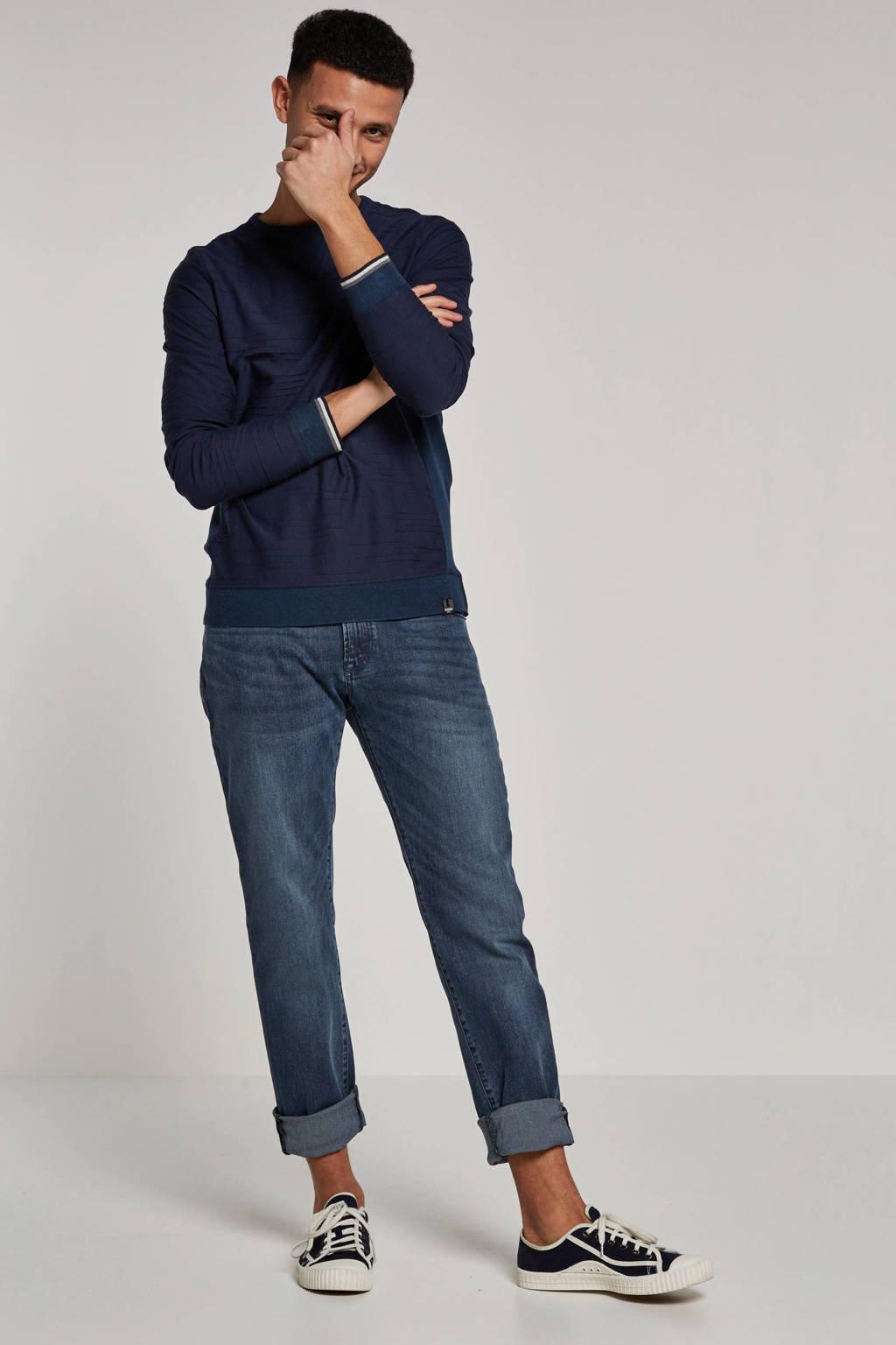 Twinlife T-shirt lange mouw, Donkerblauw
