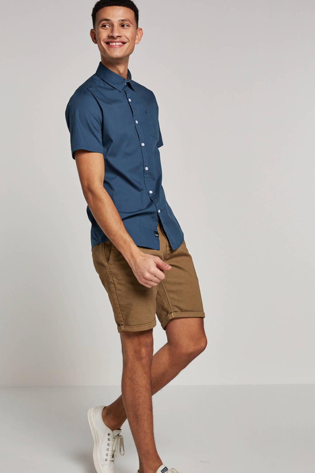 Twinlife overhemd korte mouw, Donkerblauw