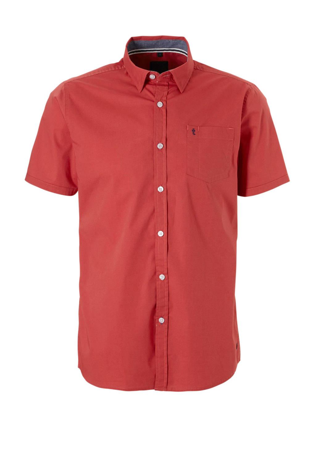 Twinlife overhemd korte mouw, Rood