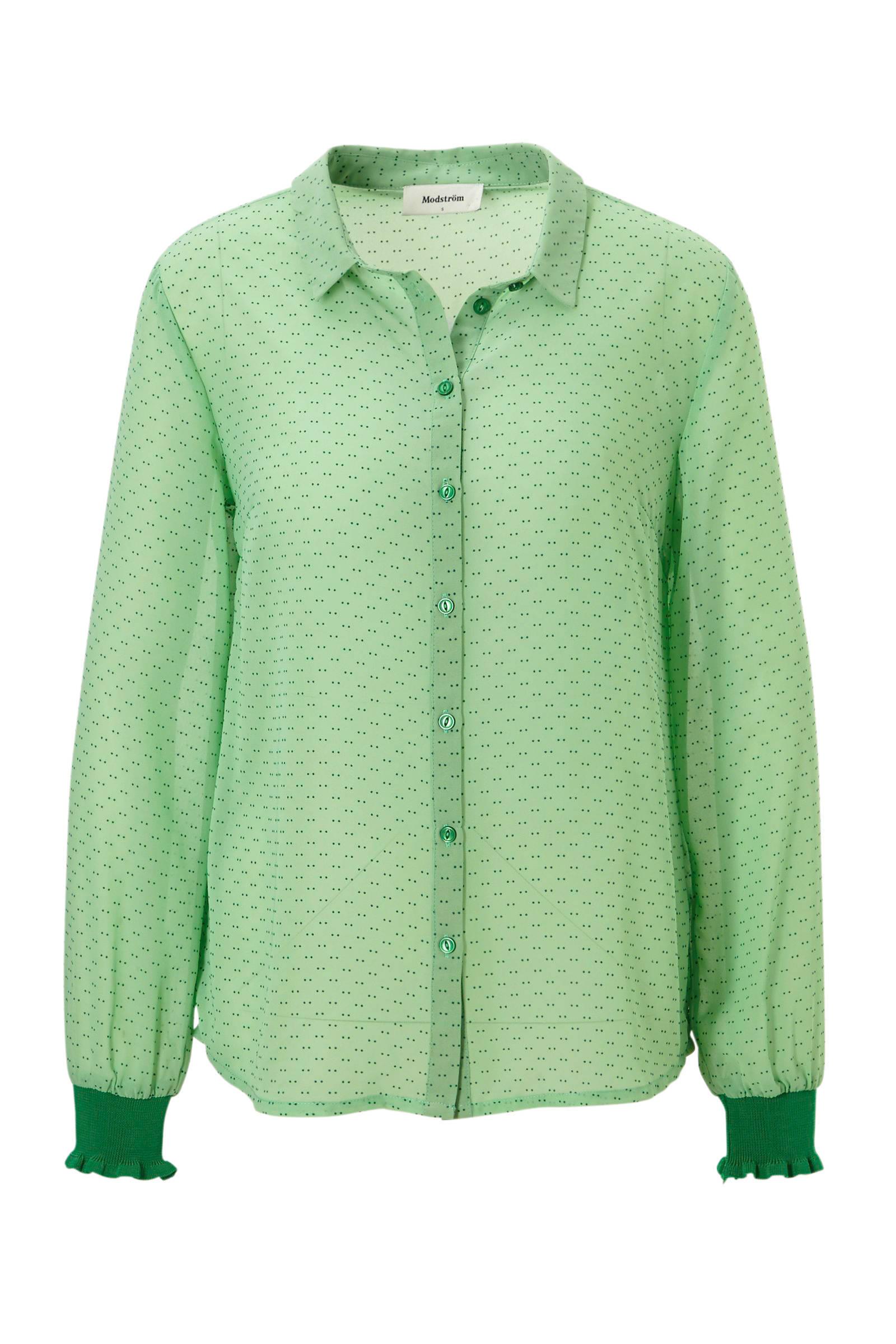 mintgroene blouse dames