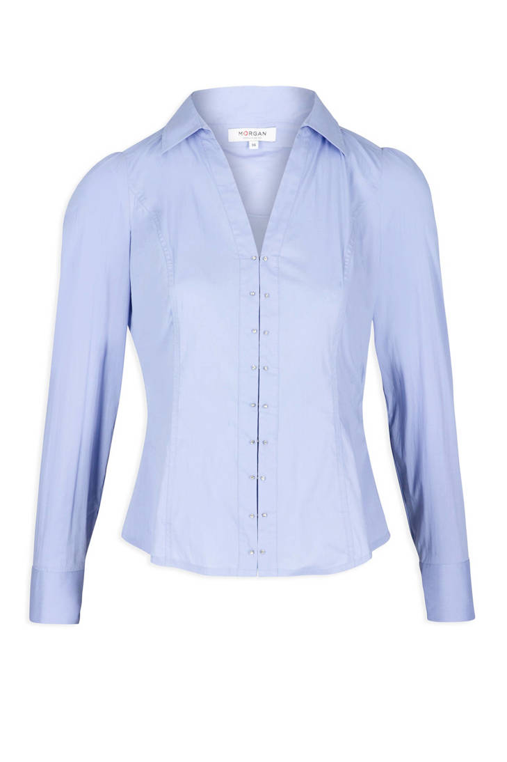 lichtblauw blouse Morgan blouse Morgan qzw7P1