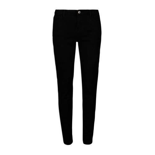 Morgan slim fit broek zwart