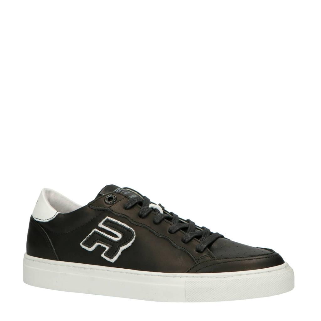 REPLAY  leren sneakers zwart, Zwart