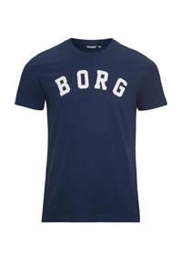 Björn Borg   sport T-shirt donkerblauw, Donkerblauw/wit