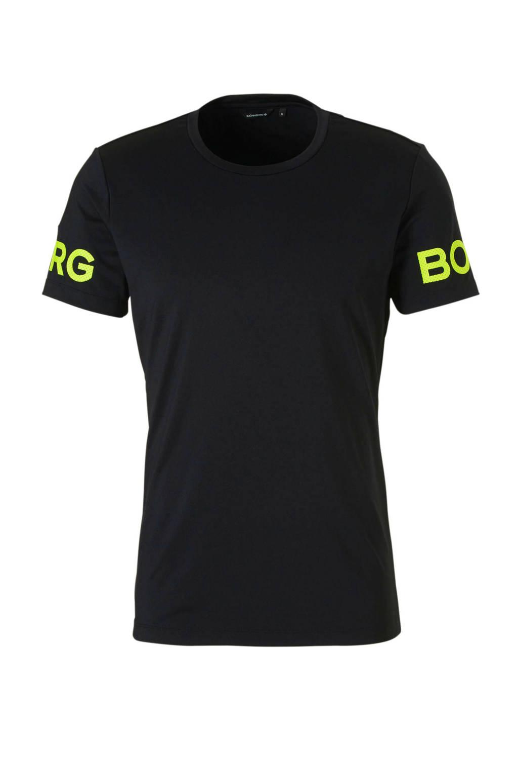 Björn Borg   sport T-shirt zwart, Zwart