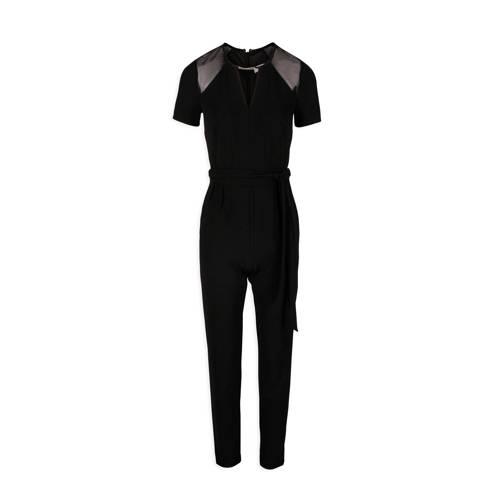 Morgan jumpsuit met mesh zwart kopen