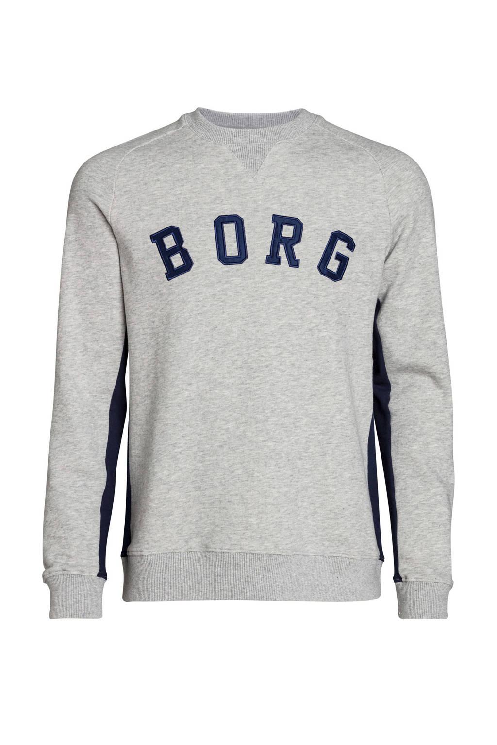 Björn Borg   sportsweater grijs melange, Grijs melange/blauw