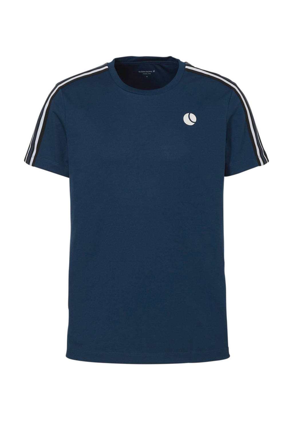 Björn Borg   sport T-shirt blauw, Blauw/zwart/wit